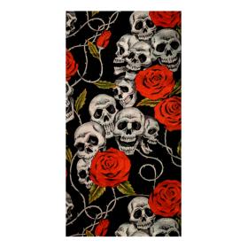 Multifunkcyjny komin MODEKA Czaszki i róże
