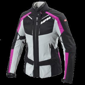Damska kurtka tekstylna SPIDI D171 545 4SEASON LADY Szaro/Różowa