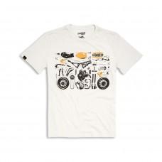 Ducati T-Shirt Puzzle Scrambler - L