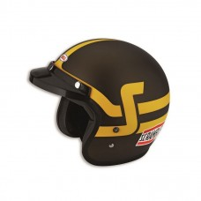 Kask Ducati Scrambler Brown Yellow Open Face