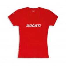 Ducati T-Shirt czerwona damska - L