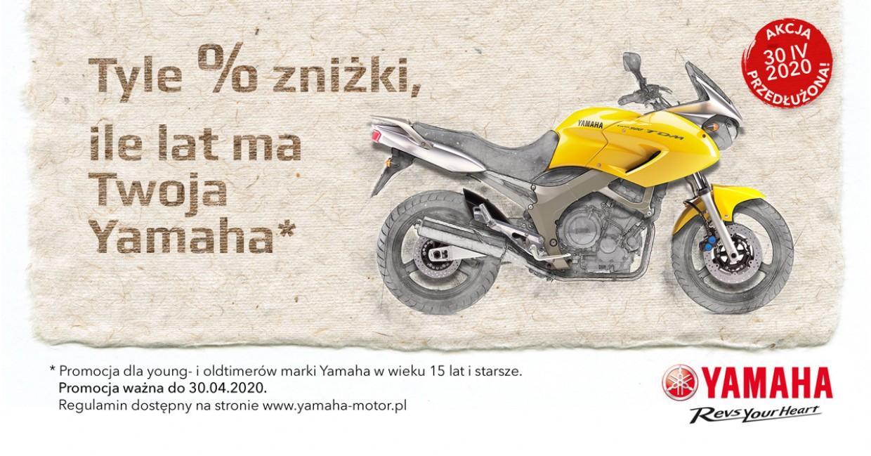 Tyle % zniżki, ile lat ma Twoja Yamaha, Marzec - Kwiecień 2020
