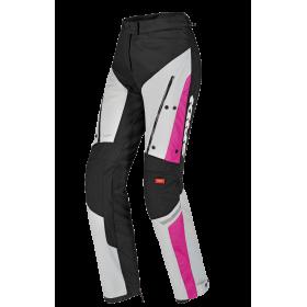 Damskie spodnie tekstylne SPIDI U81 545 4SEASON Szaro/Różowe