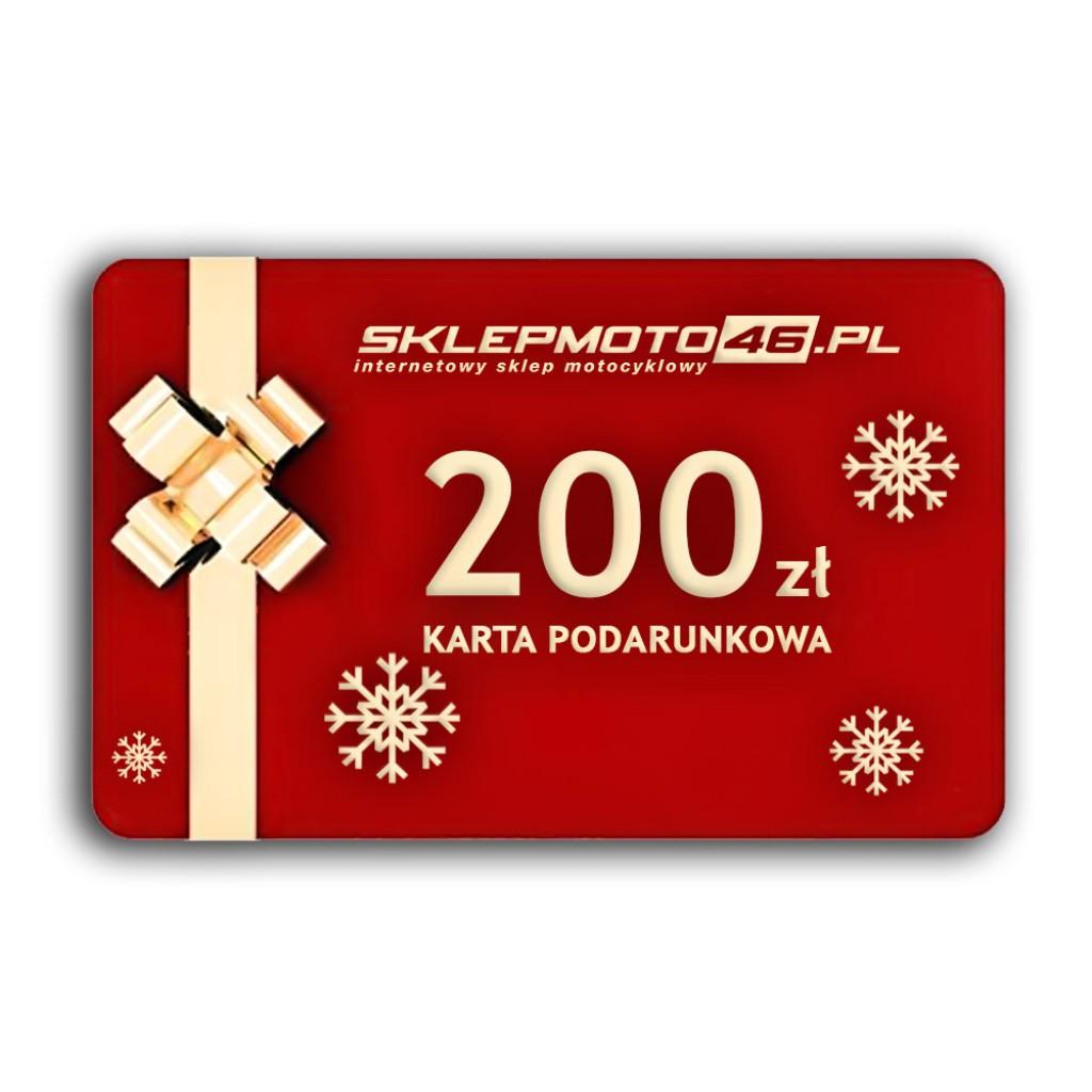 200 zł - Karta podarunkowa sklepmoto46.pl