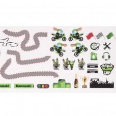 Tor wyścigowy Kawasaki - naklejki na ścianę 21 x 42 cm