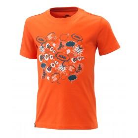 Dziecięca koszulka KTM Radical Tee, pomarańczowa