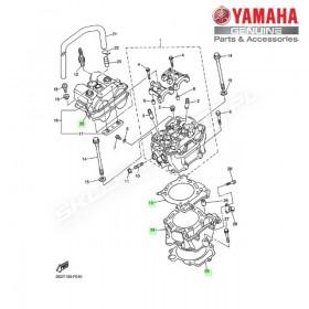 Zestaw cylinder + tłok Yamaha YZ450F 2007
