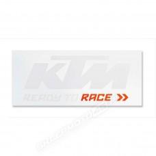 Biała/czarna naklejka KTM VAN STICKER 115x46