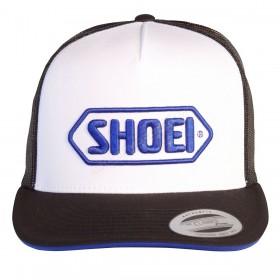 Czapka z daszkiem biało-niebieska Shoei