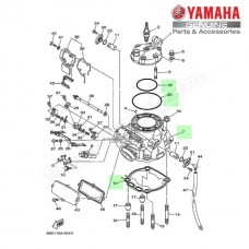 Zestaw cylinder + tłok Yamaha YZ250 2T 2003 (oem)