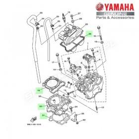 Zestaw cylinder + tłok Yamaha YZ250F 2002