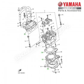 Zestaw cylinder + tłok Yamaha YZ426F 2000