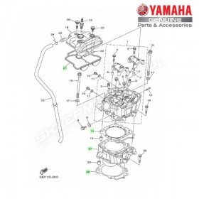 Zestaw cylinder + tłok Yamaha YZ450F 2010