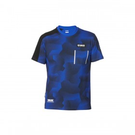 Koszulka męska Yamaha Paddock Blue, wzór moro